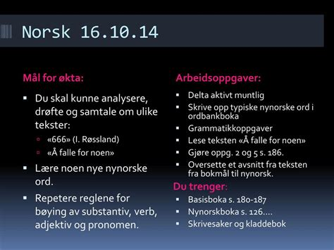 PPT - Norsk 16