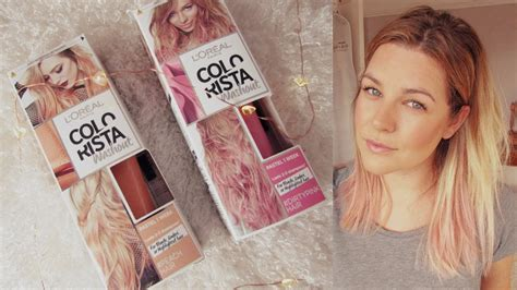 Dying my Hair Dirty Pink/Peach! L'oreal Colorista