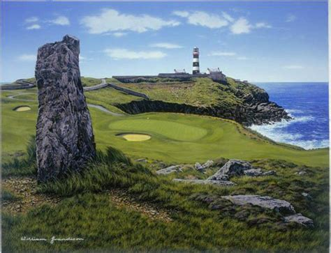Old Head - 17th Hole 'Lighthouse' - Grandison Golf Gallery