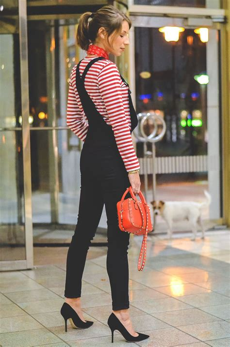 OUTFIT: DIE SCHWARZE LATZHOSE | Red white striped shirt