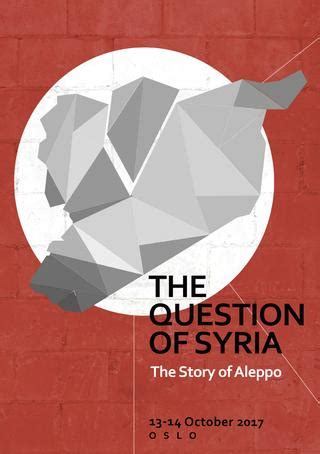 The Question of Syria 2017 - The Story of Aleppo (Brochure