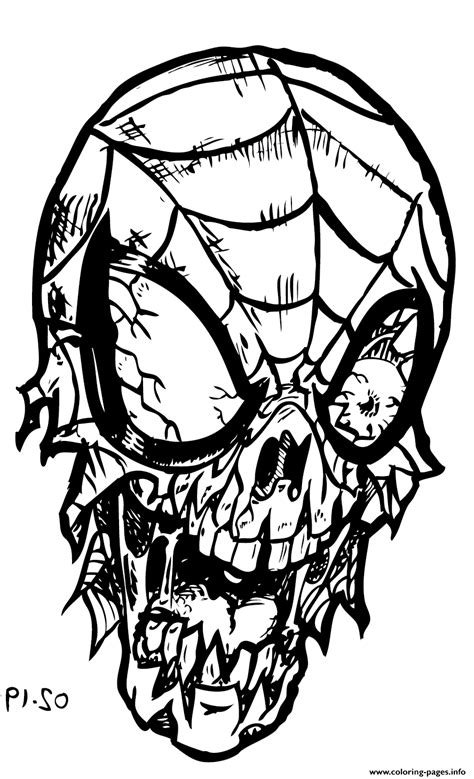 Spiderman Zombie Coloring Pages Printable