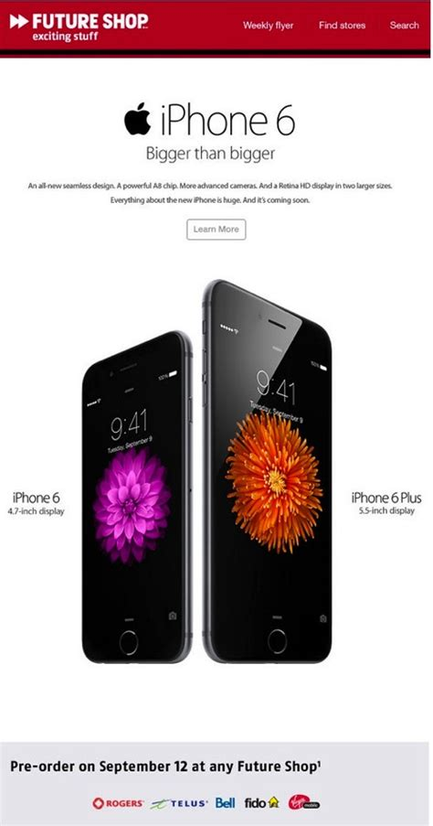 Future Shop's iPhone 6 Pre-Orders Start Sept