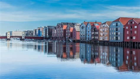 Bakklandet, Trondheim, Norway - Along the mouth of the