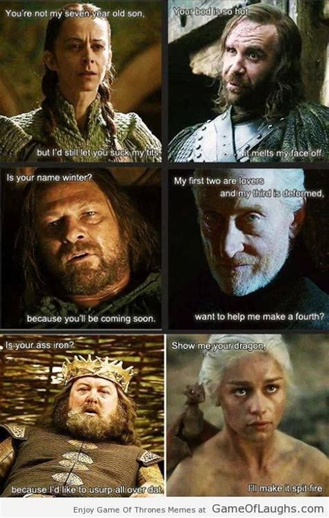 When Game Of Thrones characters get naughty - Game Of