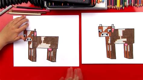How To Draw A Minecraft Cow - Art For Kids Hub