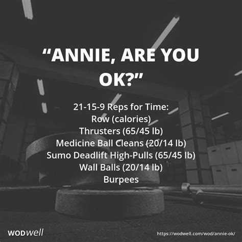 """""""Annie, Are You OK?"""" WOD 
