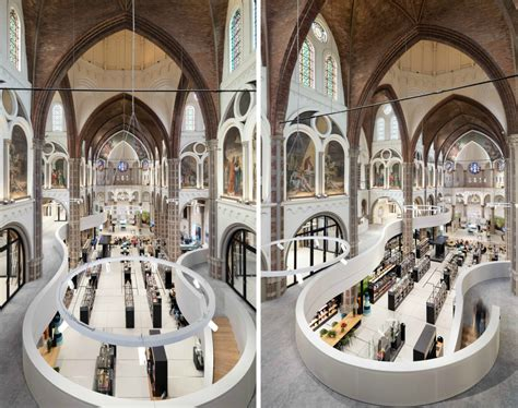 Architects convert old Dutch church into a gorgeous library