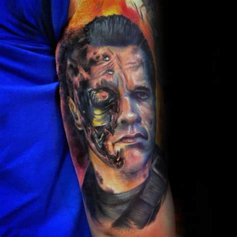 60 Terminator Tattoo Designs For Men - Manly Mechanical