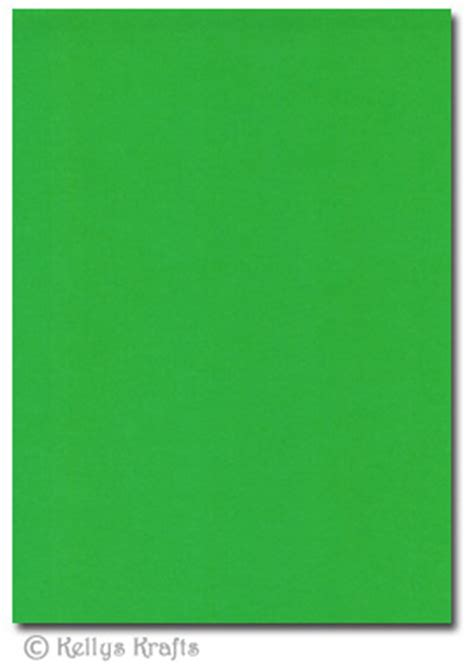 5 Sheets of Bright Green A4 Crafting Card - £1