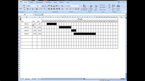 Excel Tutorial: Make interactive visual schedule with one
