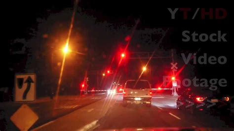 Train Railroad Crossing Lights Blinking Red w/ Arms Going