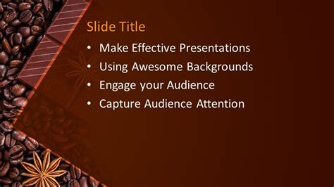 Free Chocolate Grains PowerPoint Template - Free