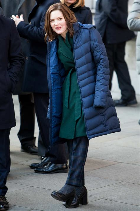 Holliday Grainger spotted while filming upcoming BBC drama