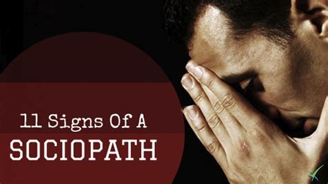 11 Signs Of A Sneaky Sociopath - YouTube