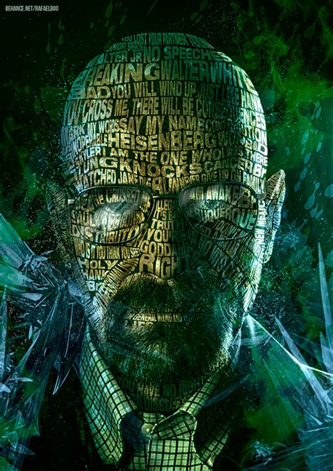 Breaking Bad -Typographic Faces on Behance