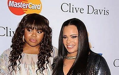 Singer Faith Evans and daughter Chyna   Celebrity moms