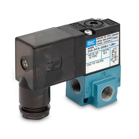 MAC Valves 35A 3/2 Solenoid Valve - In-Line and Manifold