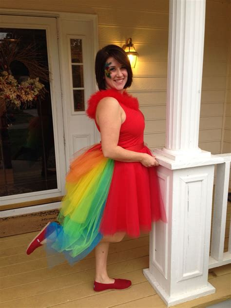 DIY 64-layer parrot tutu costume with bustle in 2019